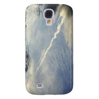 Very nice double traces of airplane in the morning samsung galaxy s4 case