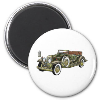 Very Old Classic Car 2 Inch Round Magnet