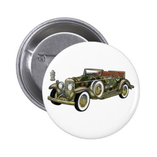 Very Old Classic Car Button