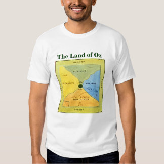 Very old Map of Oz (front) T-Shirt