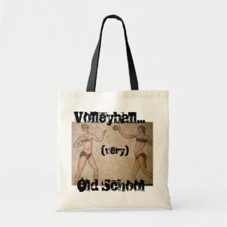 Very Old School Beach Volleyball Tote Bags