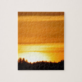 Very Orange Sunset Jigsaw Puzzle
