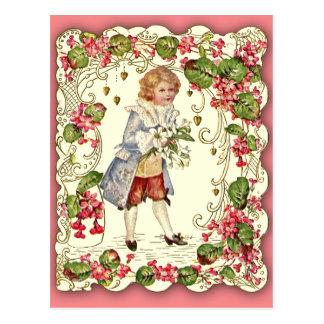 Very Ornate Victorian Valentine Card Post Card