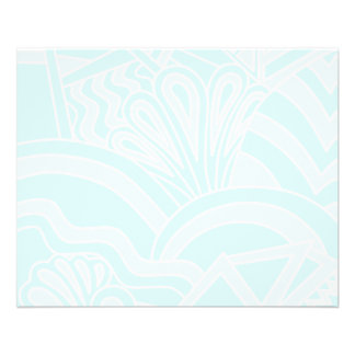 Very Pale Blue Art Deco Style Background Design. Flyer