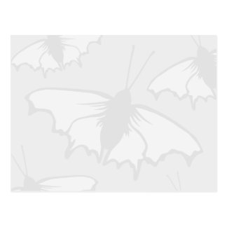 Very Pale Gray Butterfly Background Design. Postcard