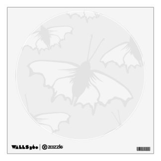 Very Pale Gray Butterfly Background Design. Room Graphic