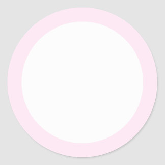 Very pale pink solid color border blank classic round sticker