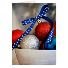 Very Patriotic Christmas Card at Zazzle