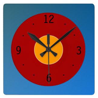 Very Plain Red Blue Yellowu0026gt;Plain Kitchen Clocks