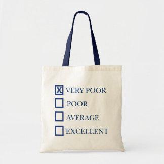 Very Poor Budget Tote Bag