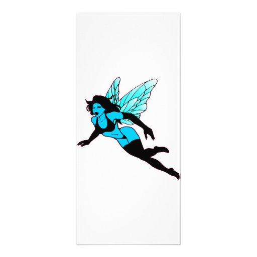 Very Pretty Blue Fairie Personalized Rack Card