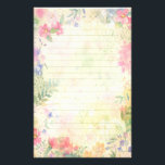 "Very Pretty floral Lined Stationery Paper<br><div class=""desc"">Very pretty floral lined stationery paper. Lovely for writing letters,  journaling,  lists and more! Unique gift for the flower lover.</div>"