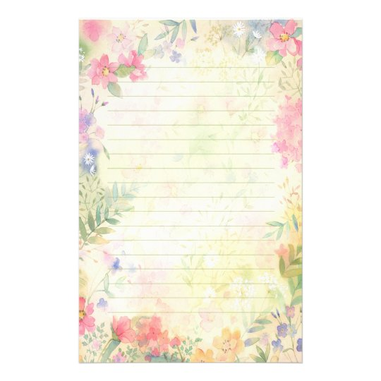 lined letter writing stationery