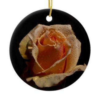 Very Pretty Orange Rose Christmas Ornament