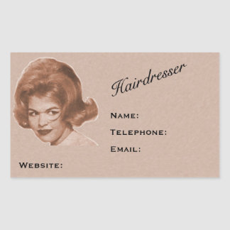 Very Professional Hairdresser's Address Labels! Rectangular Sticker