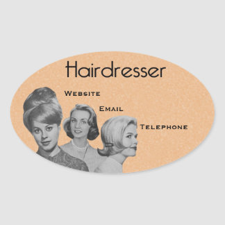Very Professional Hairdresser's Oval Labels 2
