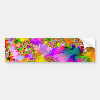 Very psychedelic car bumper sticker