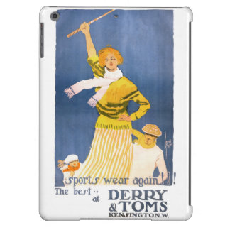 Very rare Derry & Toms Vintage Poster Restored iPad Air Cover