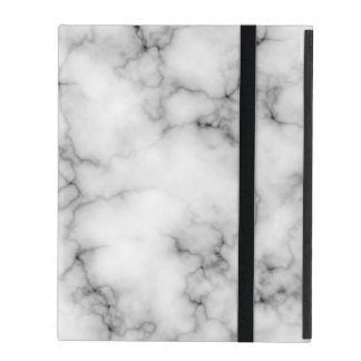Very realistic White Marble Pattern iPad Folio Cases