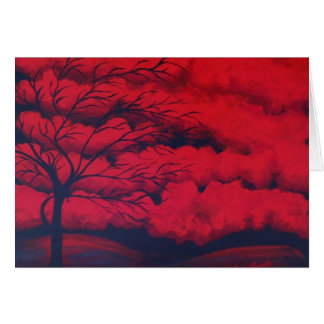 """Very Red"" by Linda Powell~Original Notecard"