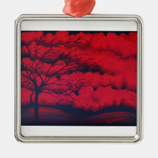 """Very Red"" by Linda Powell~Original Ornament"