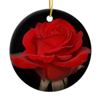 Very Red Rose Ornaments