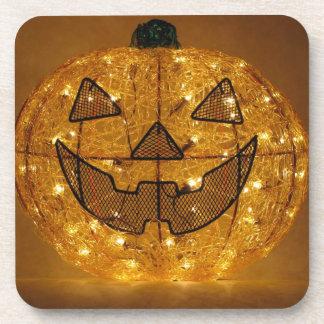 Very Scary Halloween Pumpkin Coaster Set