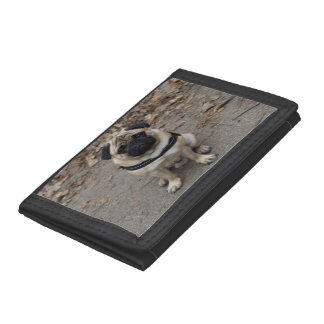 Very Serious Pug Trifold Wallet
