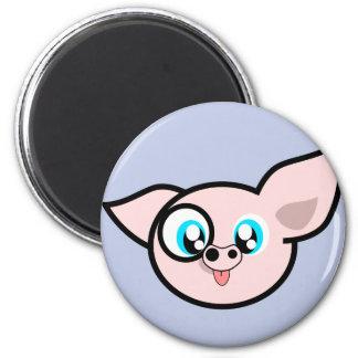 Very Silly Piggy 2 Inch Round Magnet