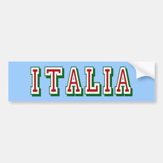 Very Simple yet cool Italia logo of Italy Bumper Sticker