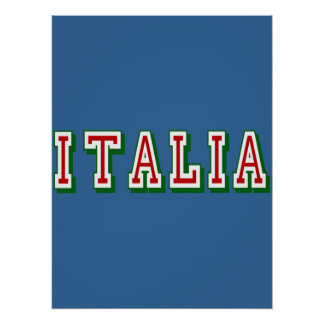 Very Simple yet cool Italia logo of Italy Poster