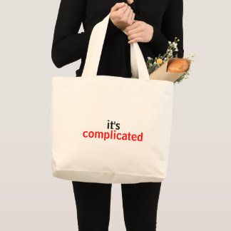 Very Simply, It's Complicated Large Tote Bag