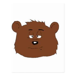 Very Sleepy Cartoon Brown Bear Postcard