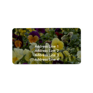 Very Small Colors Address Label