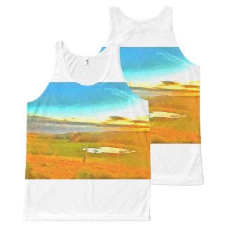 Very small lake in the dry season All-Over-Print tank top