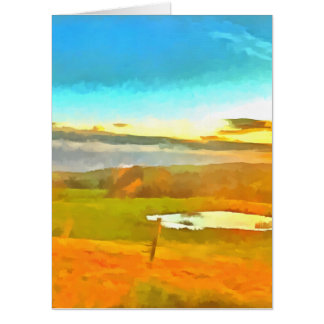 Very small lake in the dry season card