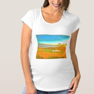 Very small lake in the dry season maternity T-Shirt