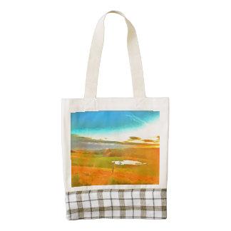 Very small lake in the dry season zazzle HEART tote bag