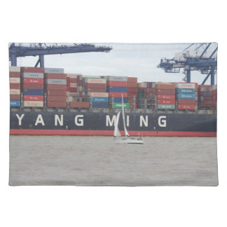 Very Small Yacht Very Large Ship! Cloth Placemat