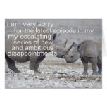 very sorry card