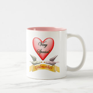 Very Special Godmother Mothers Day Gifts Two-Tone Coffee Mug