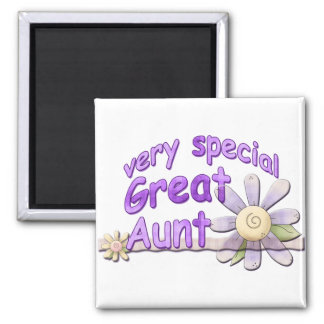 Very Special Great Aunt Flower 2 Inch Square Magnet