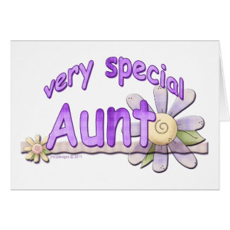 Very Special Great Aunt Flower Card