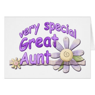 Very Special Great Aunt Flower Cards