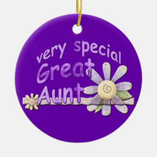 Very Special Great Aunt Flower Keepsake Ceramic Ornament