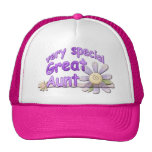 Very Special Great Aunt Flower Mesh Hats
