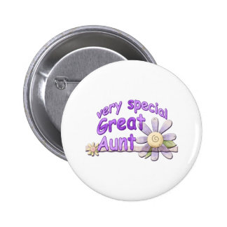 Very Special Great Aunt Flower Pinback Buttons