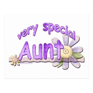 Very Special Great Aunt Flower Postcard