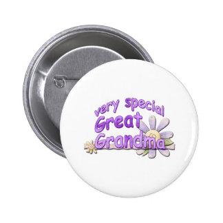 Very Special Great Grandma Design Button