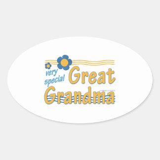Very Special Great Grandma Oval Sticker